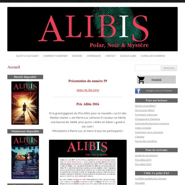 Revue Alibis: Polar, noir et mystere