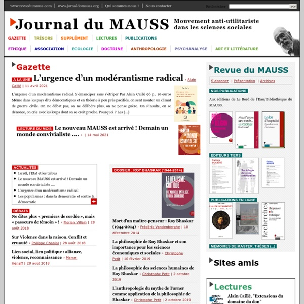 Revue du MAUSS permanente