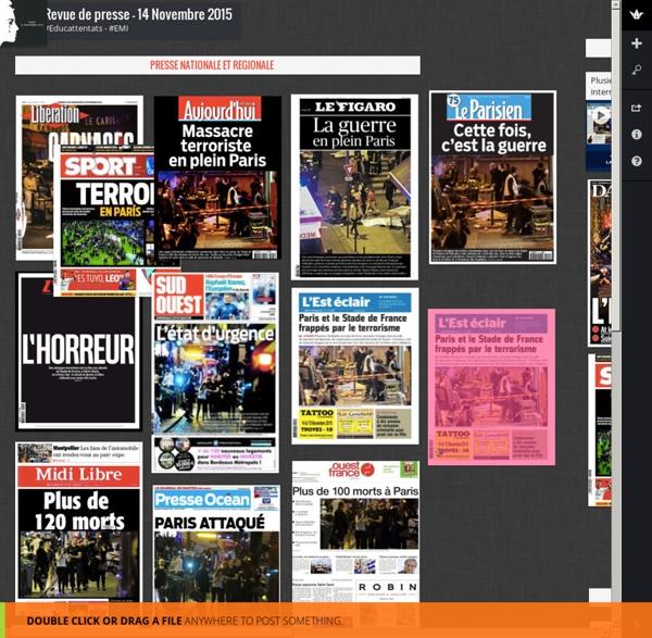 Revue de presse - 14 Novembre 2015