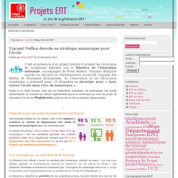 Projets ENT » Revue Web des ENT