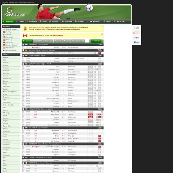 Fudbal Rezultati Uzivo Livescore