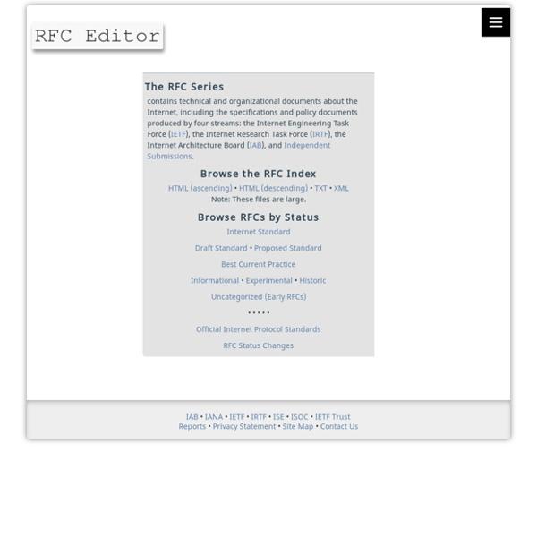 RFC-Editor Webpage