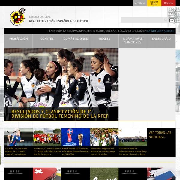 Inicio - Real Federación Española de Fútbol