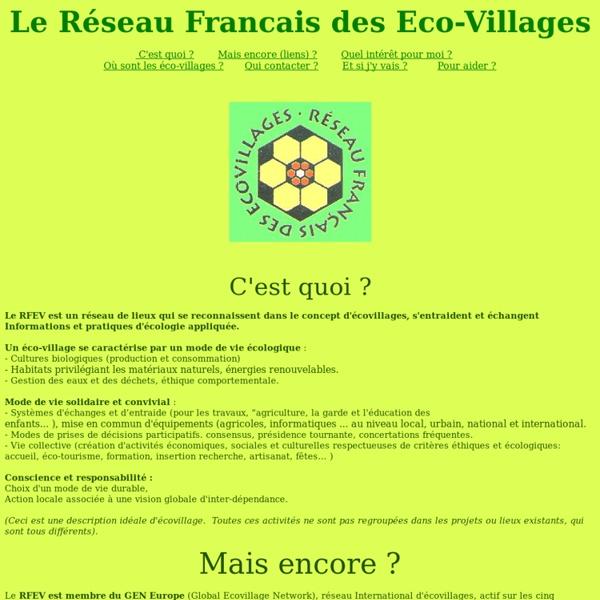 RFEV - Réseau Français des Eco-Villages