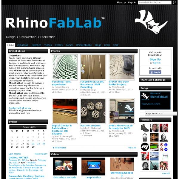 RhinoFabLab - Design + Optimization + Fabrication