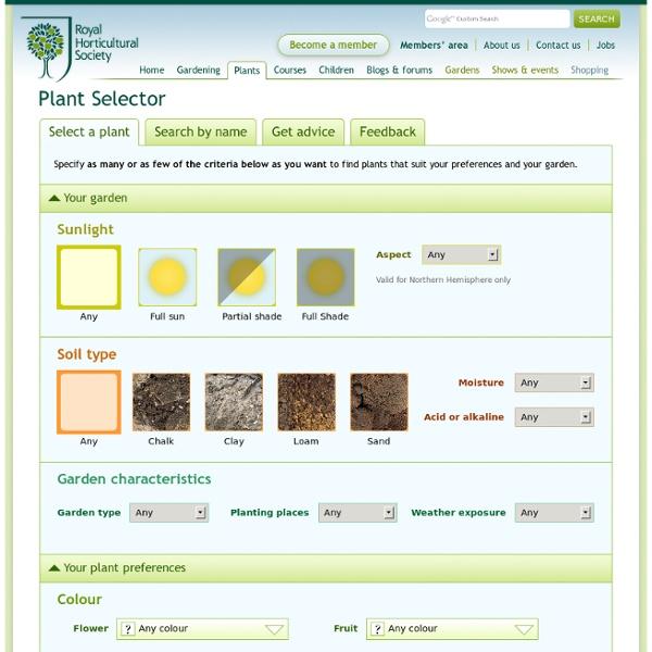 RHS Plant Selector