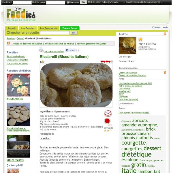Recette de Ricciarelli (Biscuits Italiens)