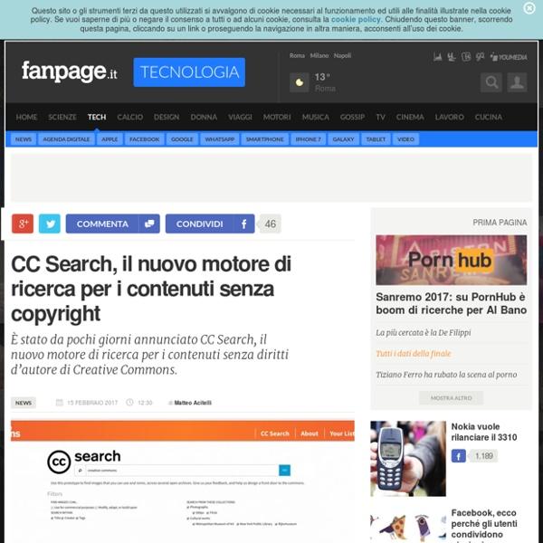 CC Search, il nuovo motore di ricerca per i contenuti senza copyright