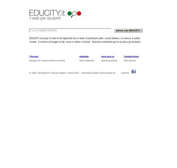 EDUCITY ricerche scolastiche per la scuola e gli studenti italiani