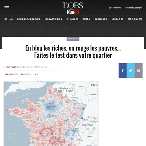 En bleu les riches, en rouge les pauvres... Faites le test dans votre quartier