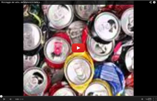 Riciclaggio del vetro, dell'alluminio e della plastica