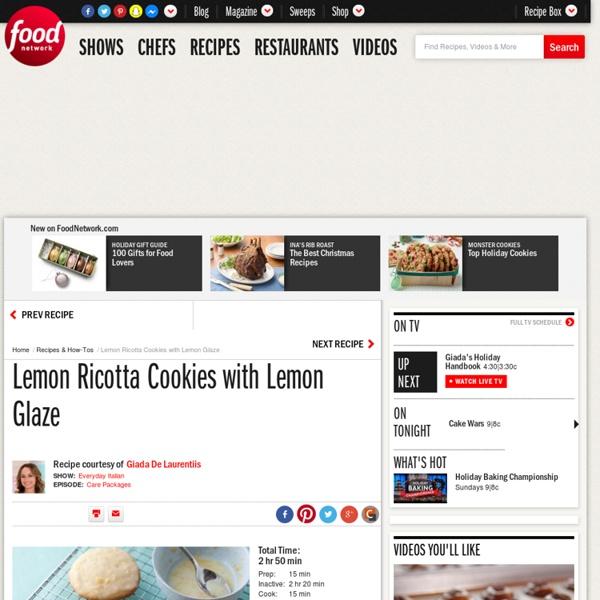 Foodnetwork Com The Kitchen: Lemon Ricotta Cookies With Lemon Glaze Recipe : Giada De