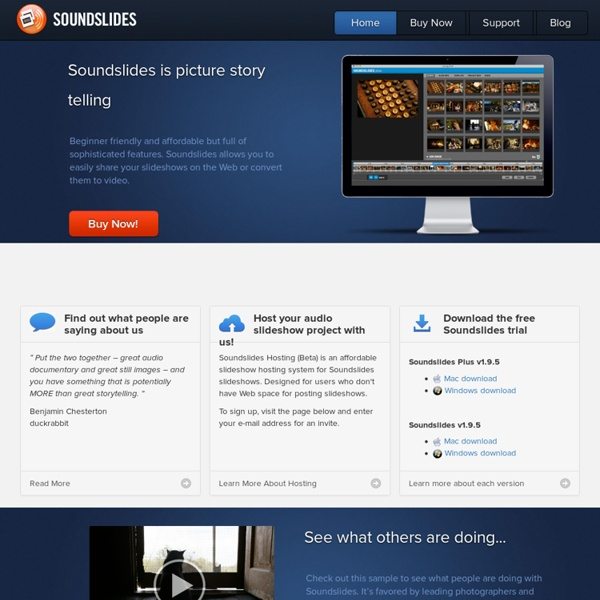 Soundslides: Software for Storytellers
