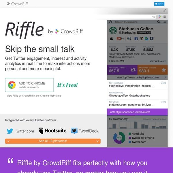 Riffle by CrowdRiff