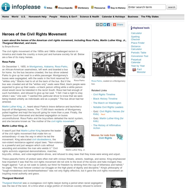 Civil Rights Movement Heroes for Kids (Rosa Parks, Martin Luther King Jr.)