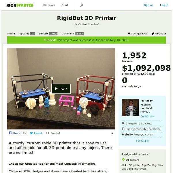 RigidBot 3D Printer by Michael Lundwall