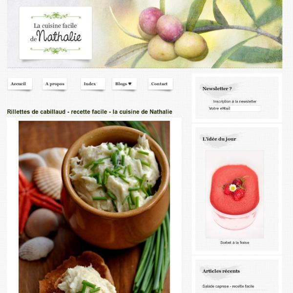Rillettes de cabillaud - recette facile - la cuisine de Nathalie
