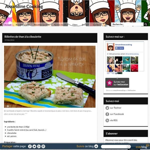 Rillettes de thon à la ciboulette - Amandine Cooking