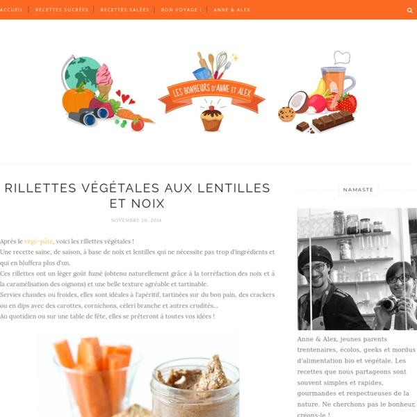 Brigitteparcouet a ajouté : Rillettes végétales aux lentilles et noix