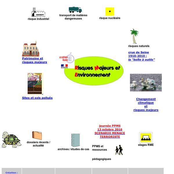 Risques Majeurs et Environnement, page d'accueil