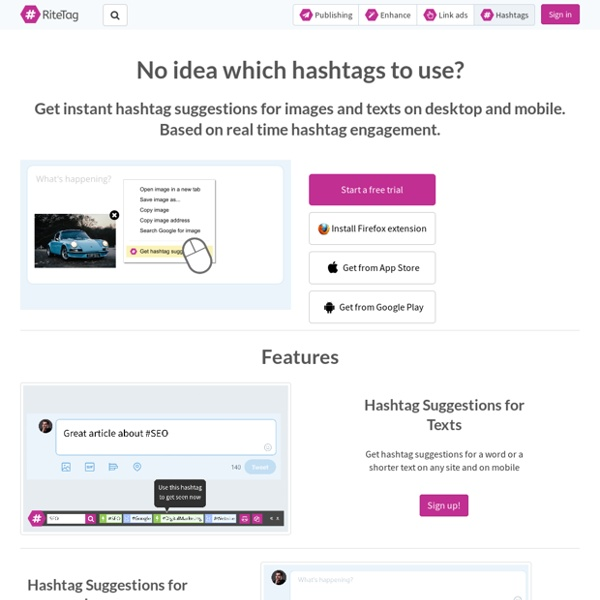 RiteTag: Best hashtags for your social media posts