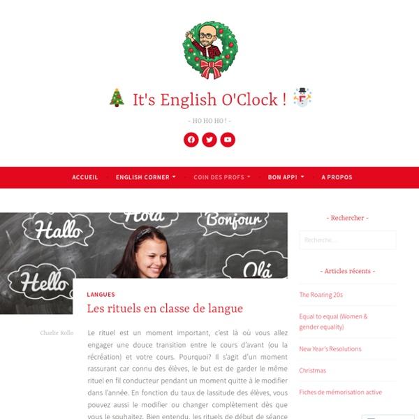 Les rituels en classe de langue – It's English O'Clock !