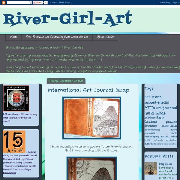 River-Girl-Art: International Art Journal Swap