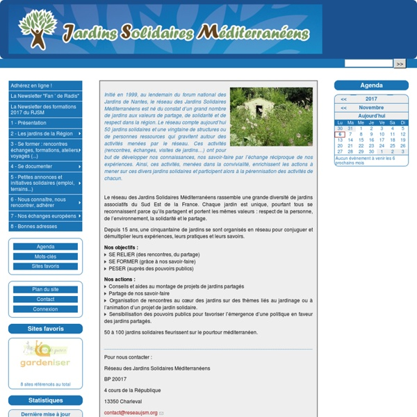 RJSM : Réseau des Jardins Solidaires Méditerranéen