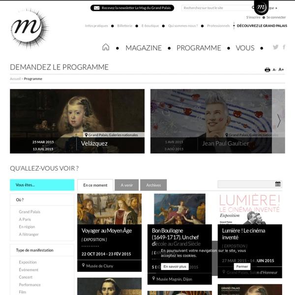 Toutes les informations sur les musées nationaux français : horaires d'ouverture, tarifs, accès, collections, expositions