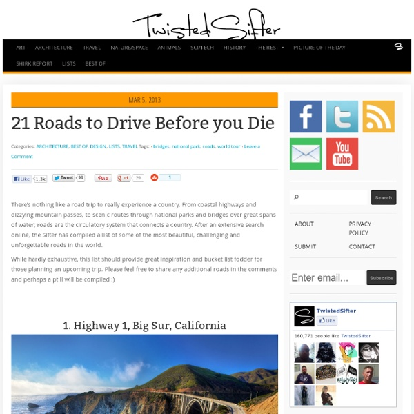 21 Roads to Drive Before you Die