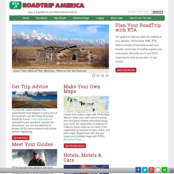 RoadTrip America - Road Trip Planning for North America