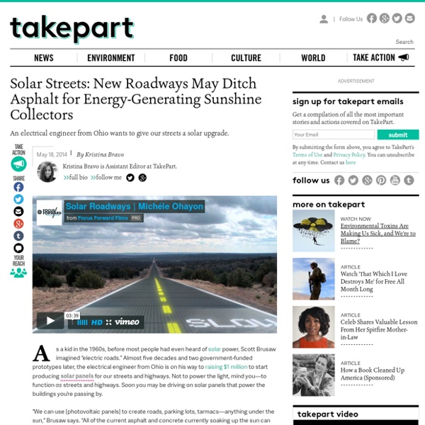 Solar Streets: New Roadways May Ditch Asphalt for Energy-Generating Sunshine ...