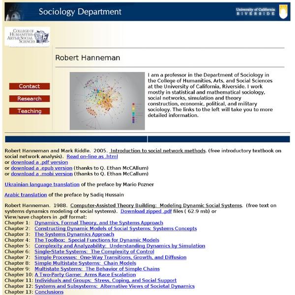 Robert Hanneman's Homepage