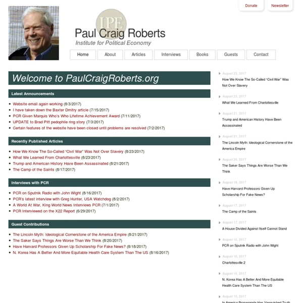 Paul Craig Roberts - Official Homepage