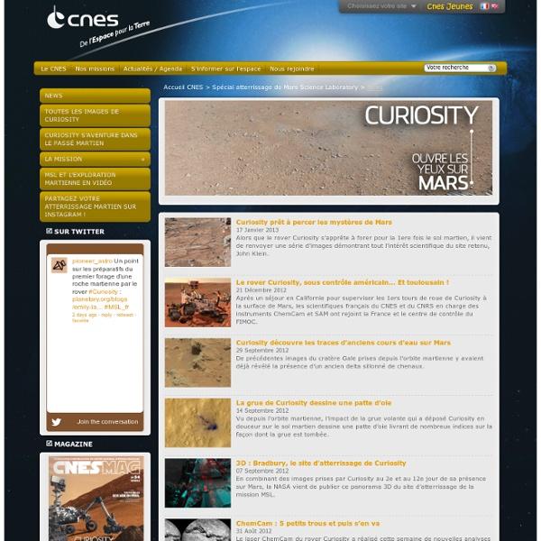 Le robot Curiosity se pose sur Mars avec succès