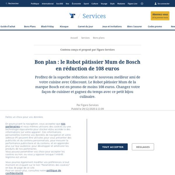 Bon plan : le Robot pâtissier Mum de Bosch en réduction de 108 euros