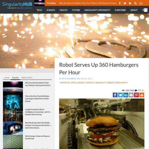 Robot Serves Up 360 Hamburgers Per Hour