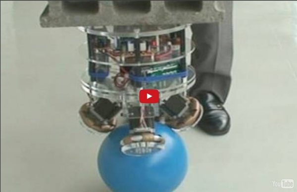 A Robot That Balances on a Ball
