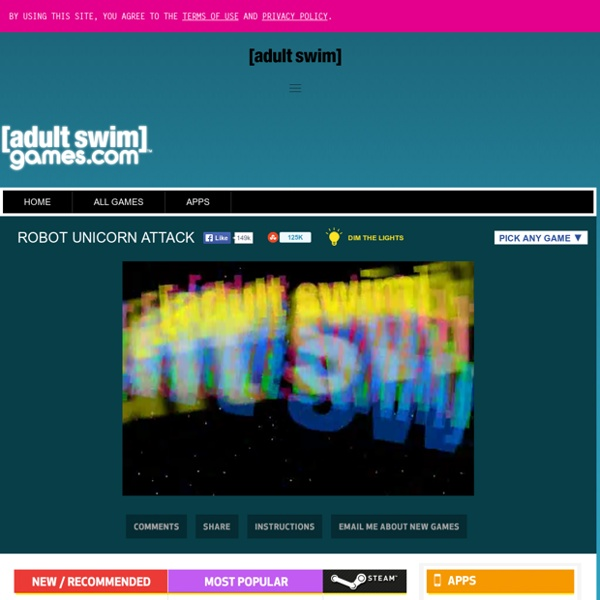 Robot Unicorn Attack from Adult Swim - Free Online Game
