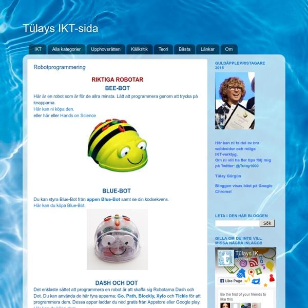 Tülays IKT-sida: Robotprogrammering