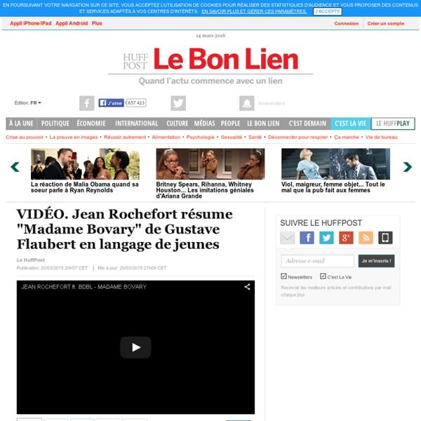 "Jean Rochefort résume ""Madame Bovary"" de Gustave Flaubert en langage de jeunes"