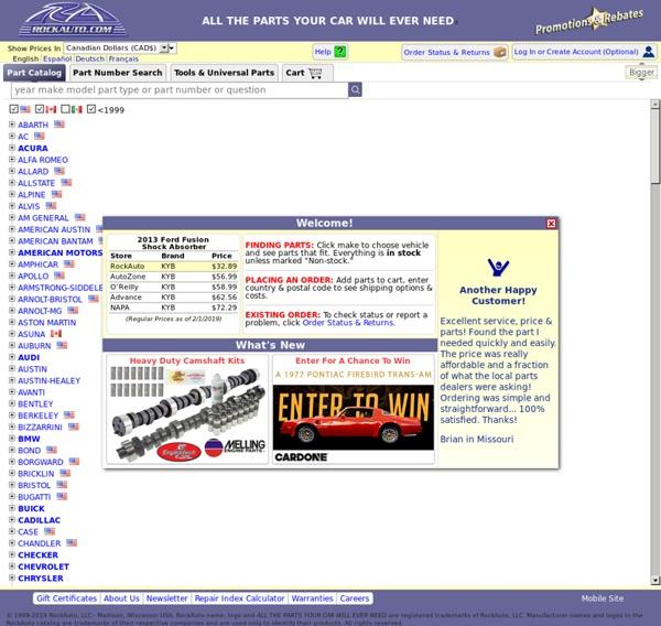 Rockauto Customer Service >> RockAuto | Pearltrees