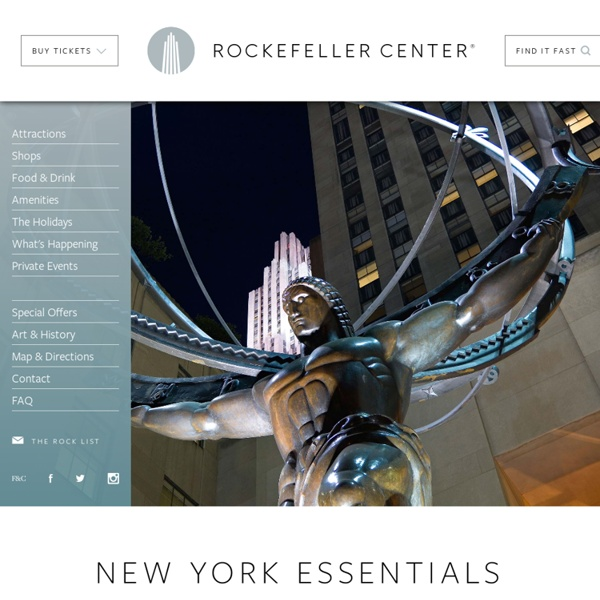 Rockefeller Center New York City (NYC) Tourist Attractions
