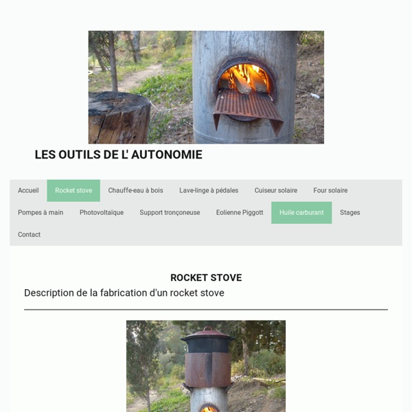 Pocket rocket - Les outils de l'autonomie