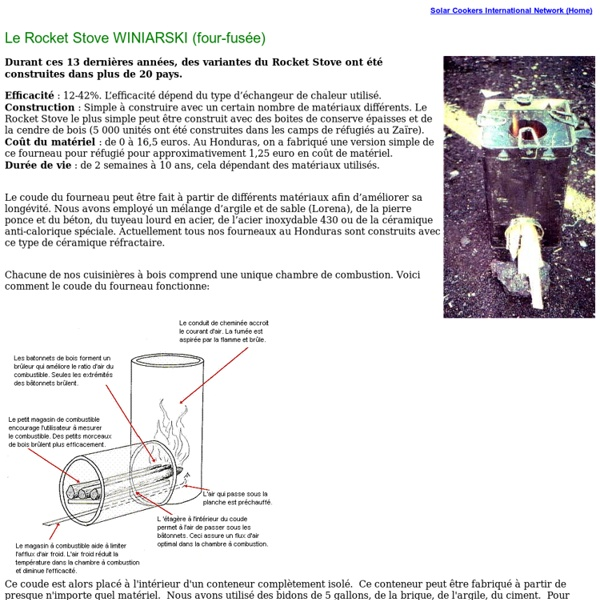 Le Rocket Stove WINIARSKI (four-fusée)