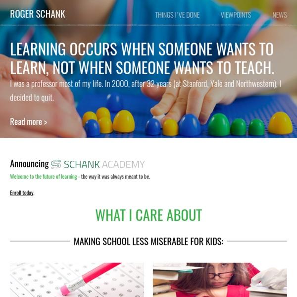 Roger Schank Homepage