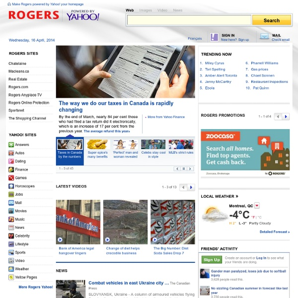 Rogers powered by Yahoo!