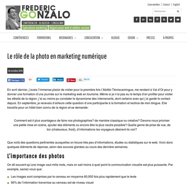 Le rôle de la photo en marketing numérique