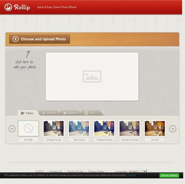Rollip - Online Photo Effects