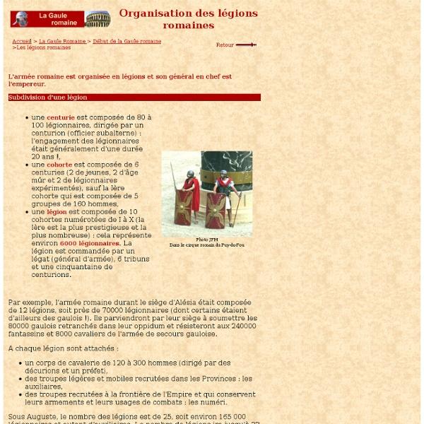 Les romains 1 : Organisation des légions romaines